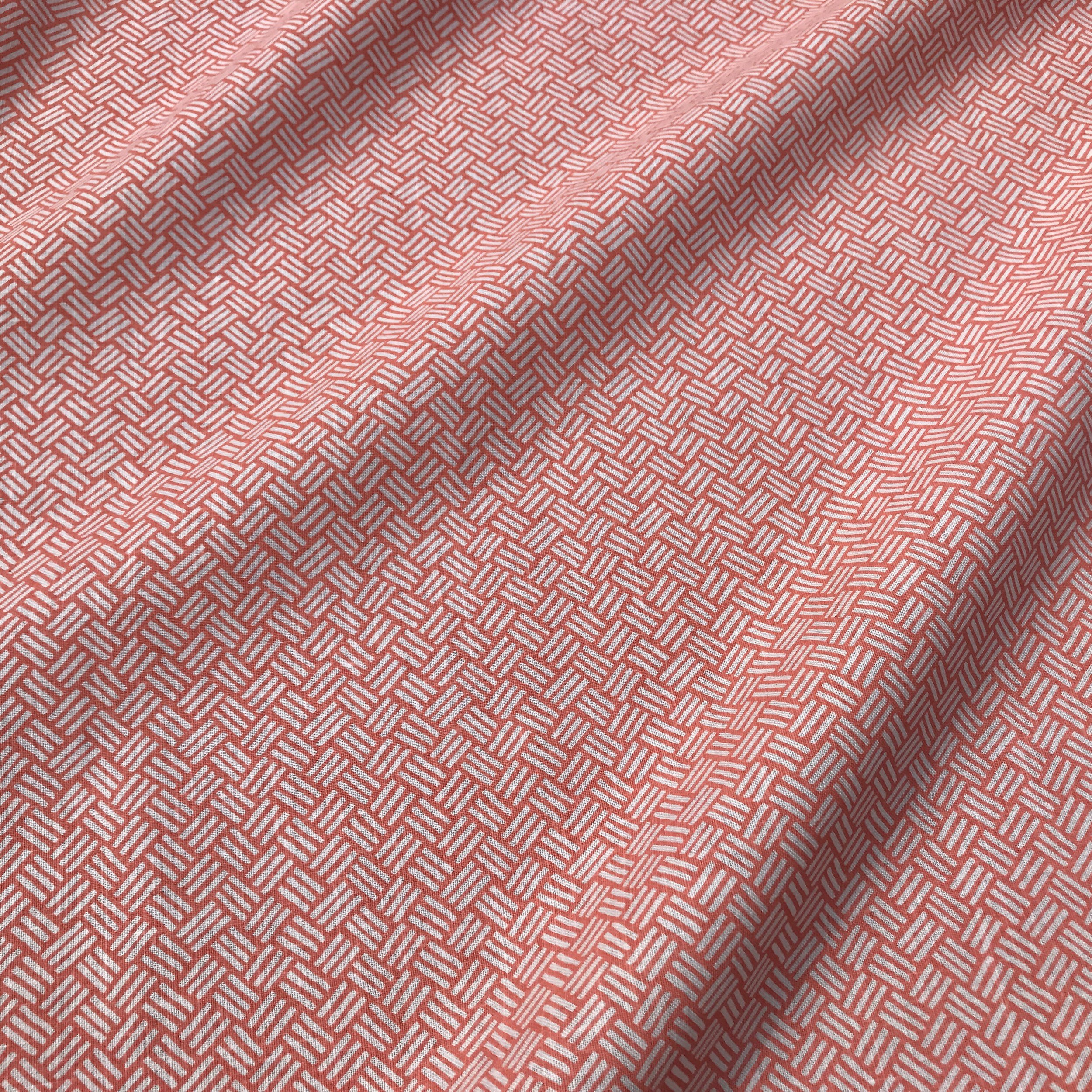 BASKETWEAVE I CORAL