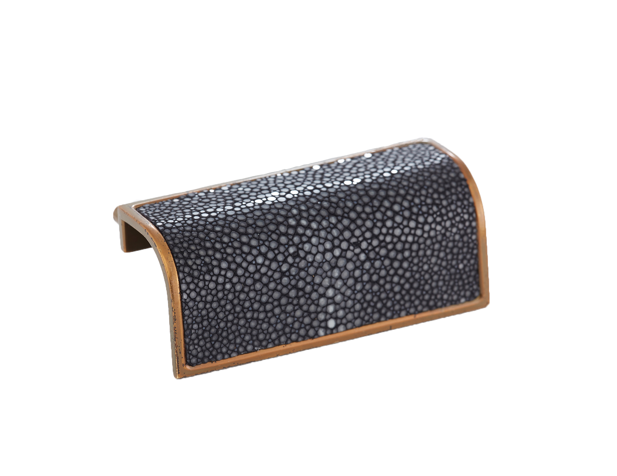 WATERFALL PULL I BLUE BLACK I CAVIAR  Satin Bronze & Shagreen