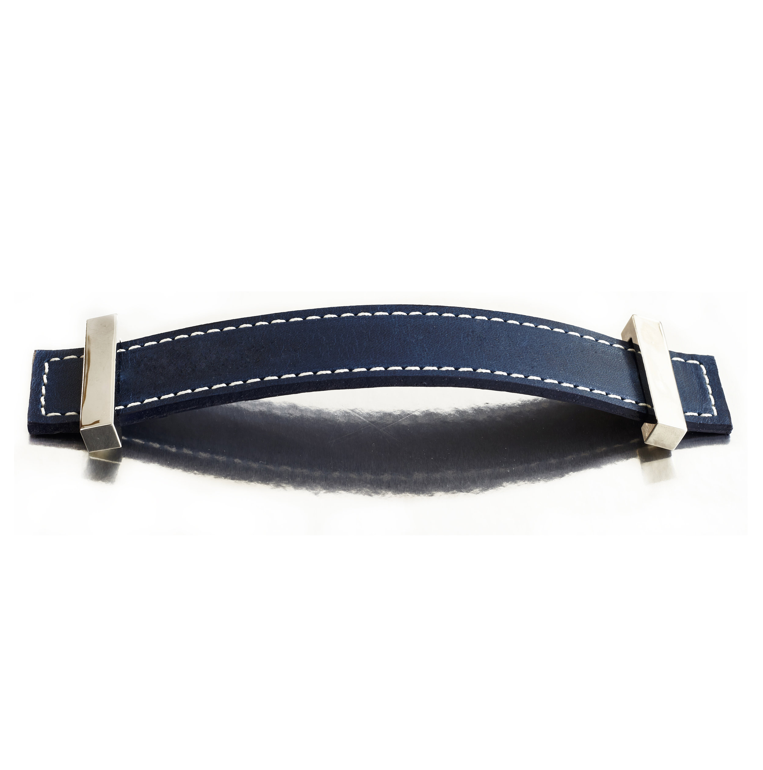 SUIT STRAP I OCEAN I EQUESTRIAN  Polished Nickel & Stitched Leather
