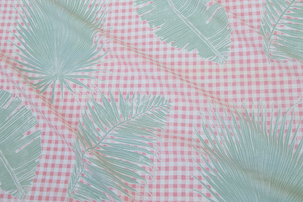 GINGHAM JUNGLE I PINK SAGE