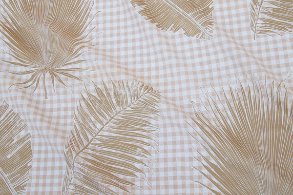 GINGHAM JUNGLE I GOLD