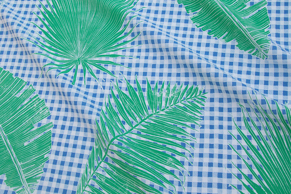 GINGHAM JUNGLE I BLUE CHIP DAY