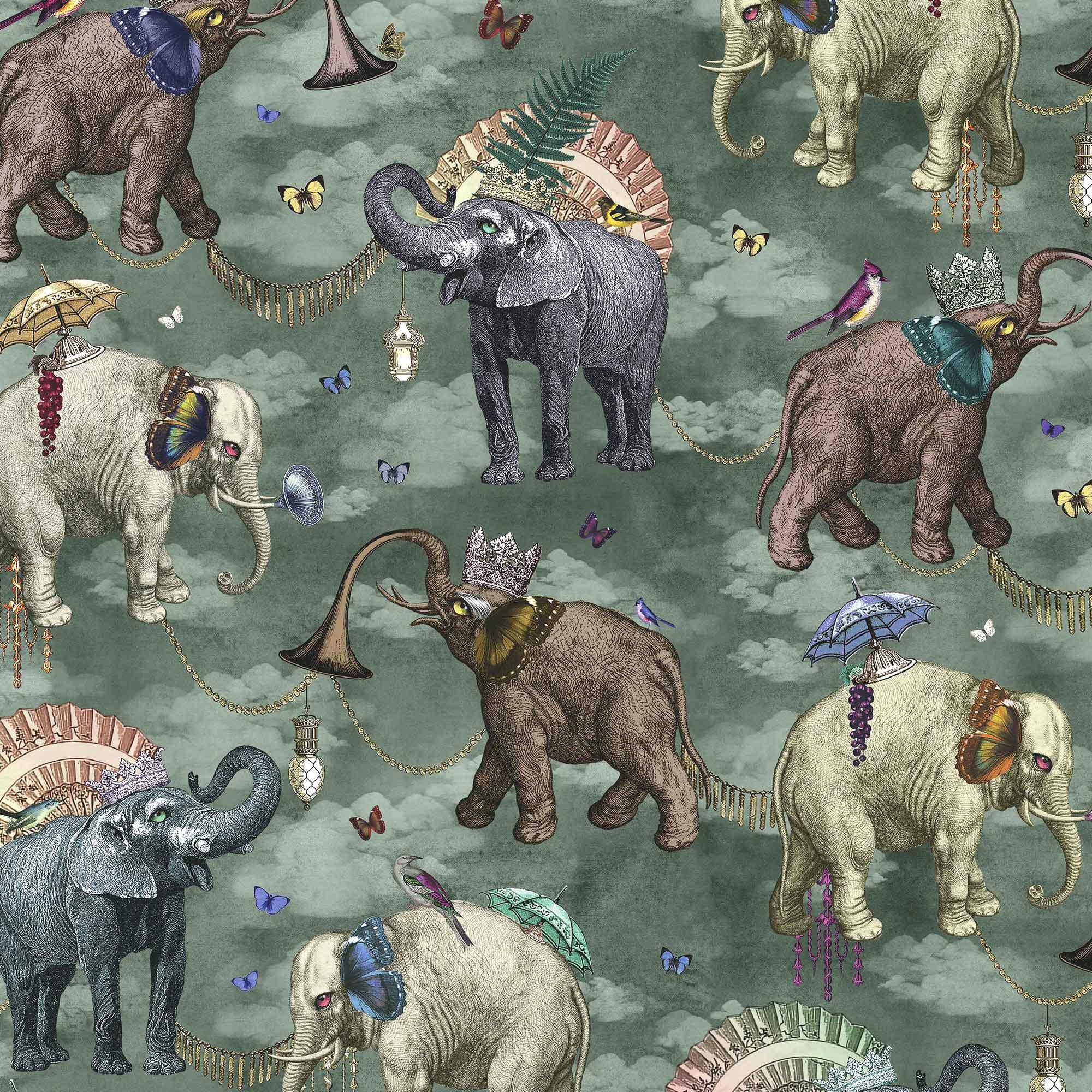 ELEPHANT'S MARCH I VIRIDIAN