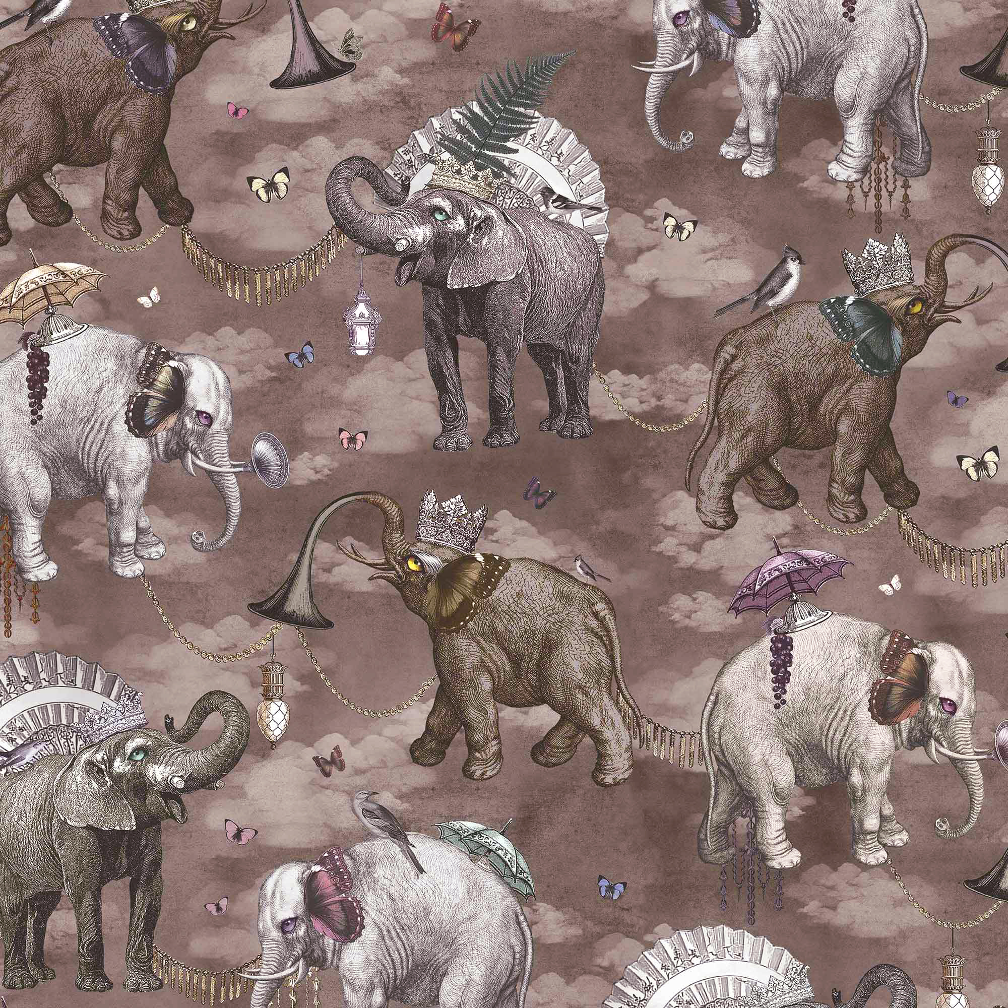 ELEPHANTS MARCH I ARGENTUM