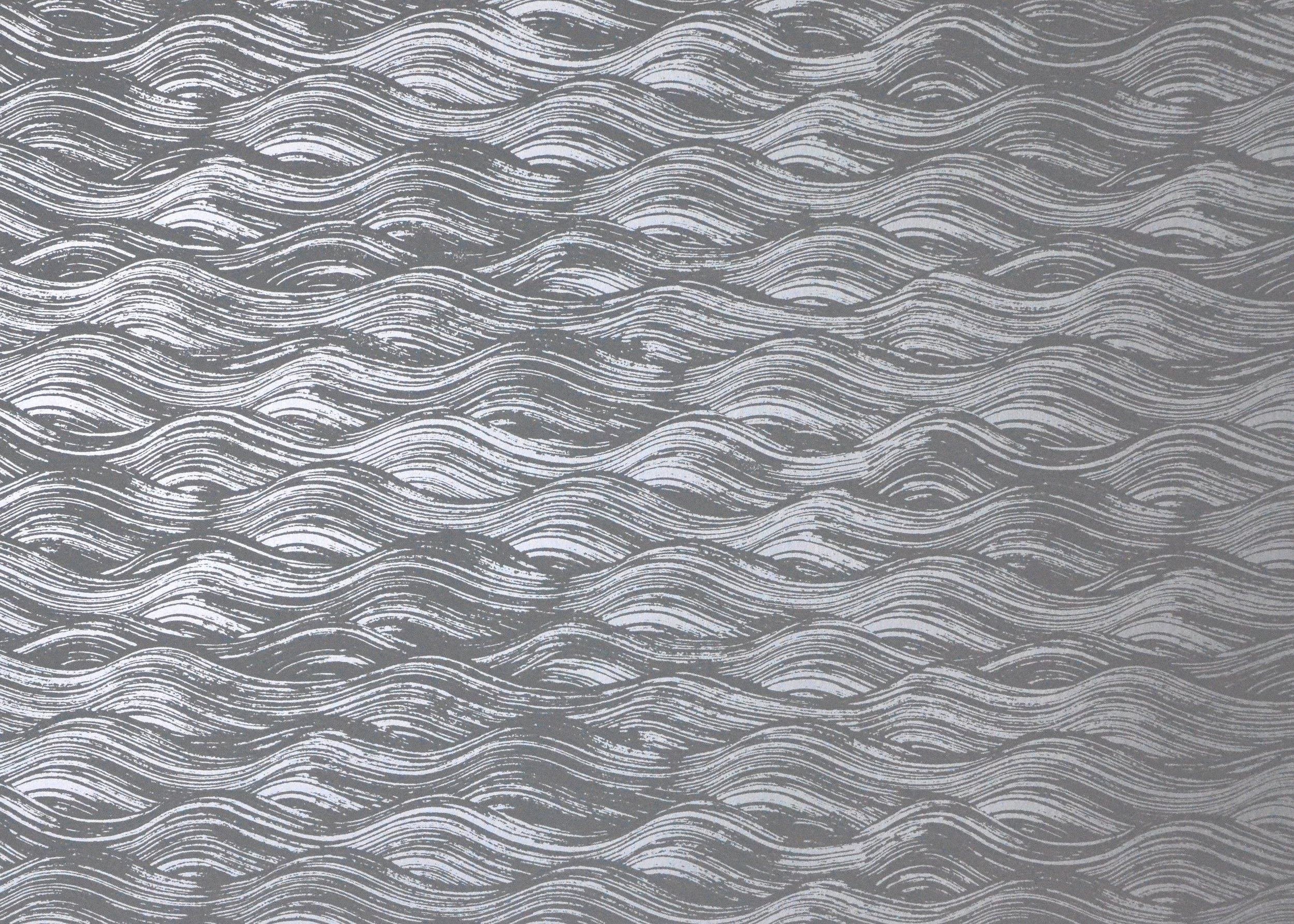 PAINTED WAVE I SILVER