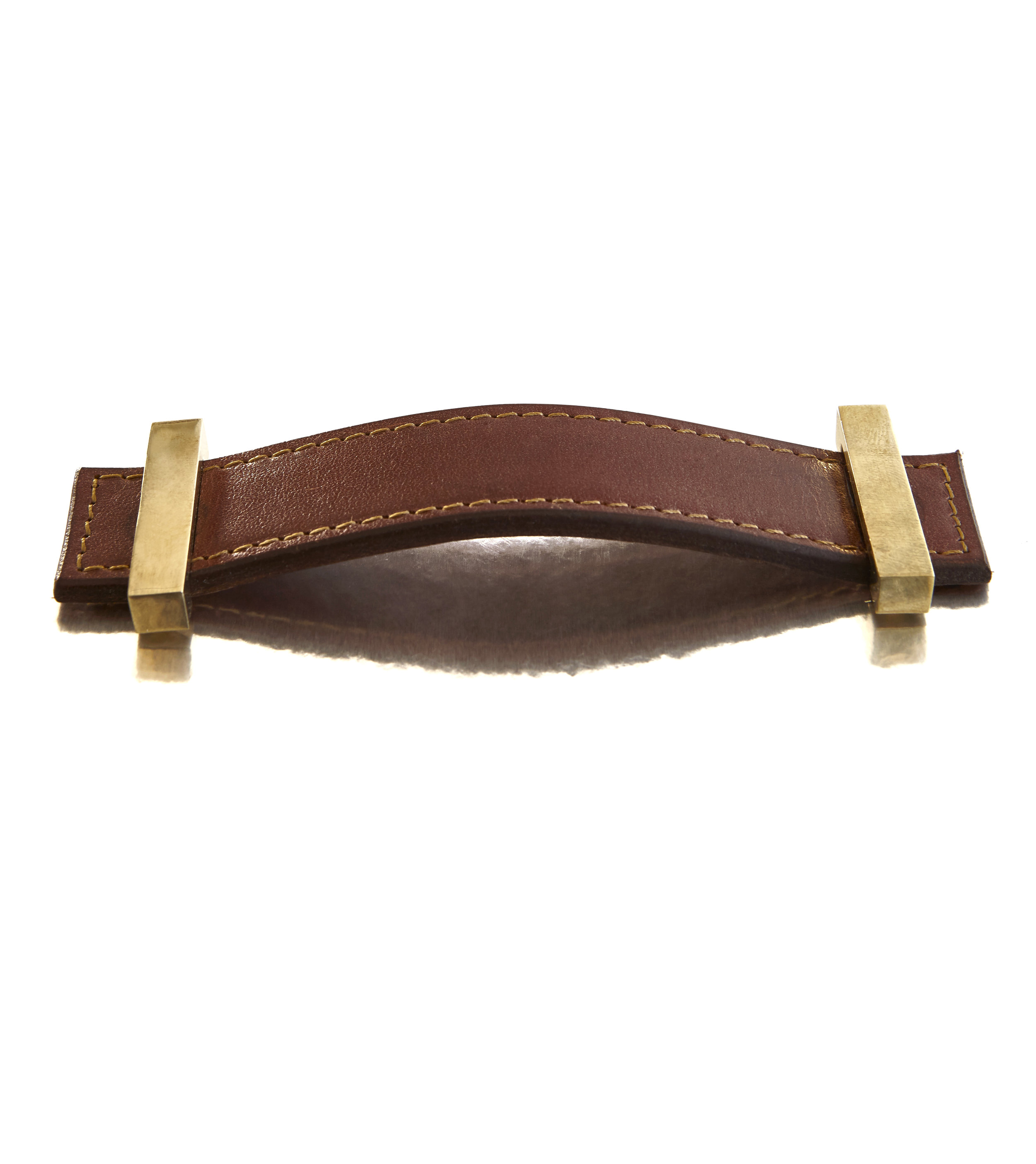SUIT STRAP I SADDLE I EQUESTRIAN  Polished Brass & Stitched Leather