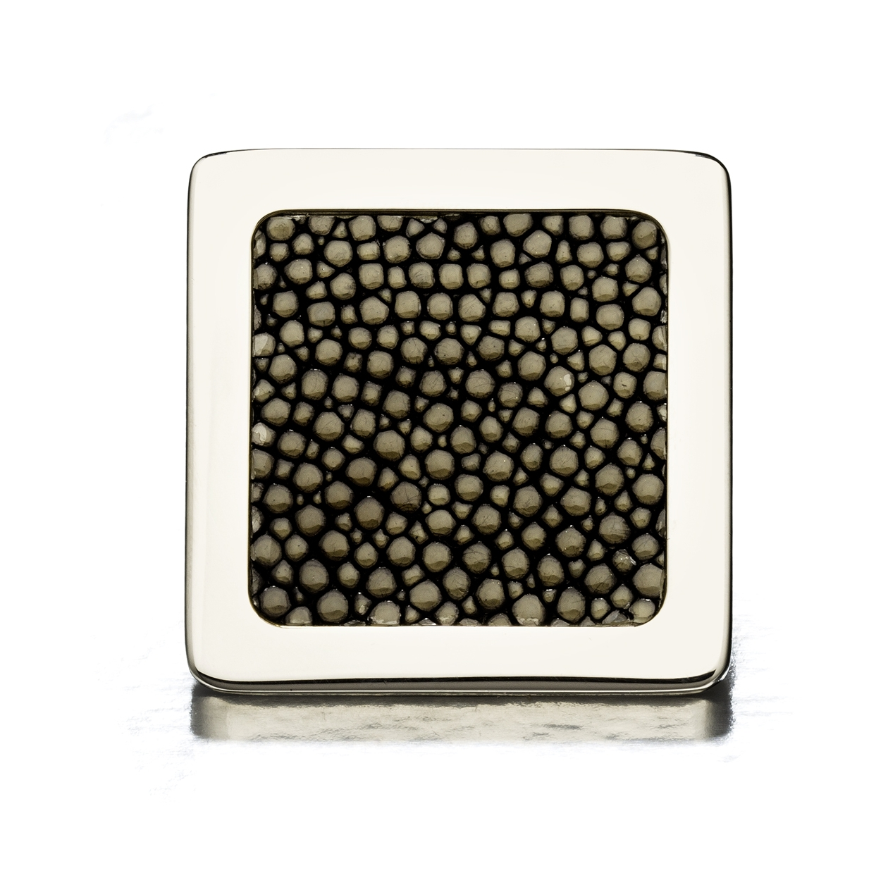 SQUARE KNOB I ONYX SHAGREEN I CAVIAR  Polished Nickel & Shagreen (gold onyx)