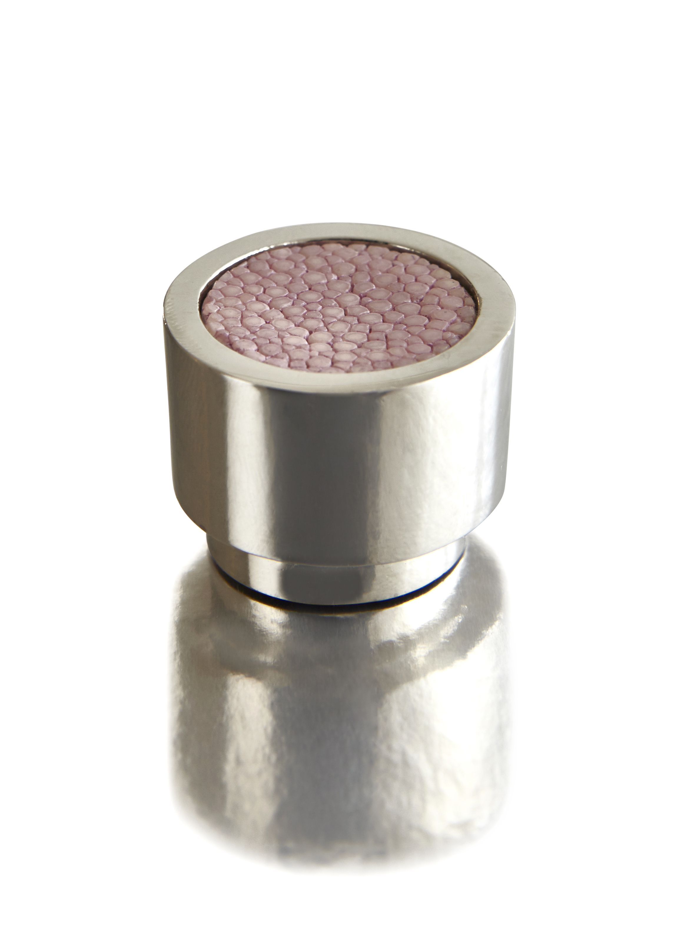 CAVIAR DIAL I ROSE PETAL I CAVIAR  Polished Nickel & Shagreen