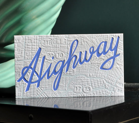 Highway business card