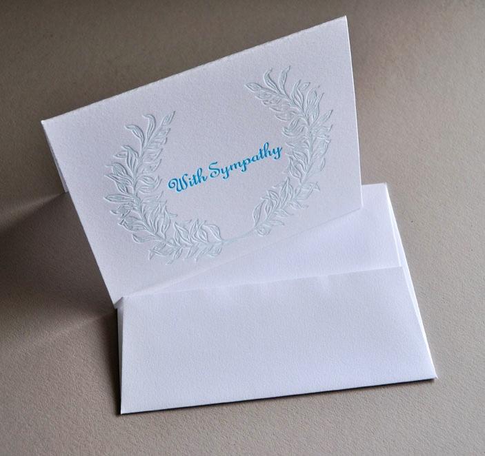 Laurel garland sympathy cards