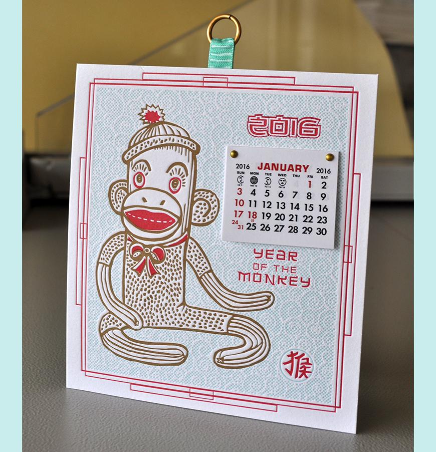 Year of the monkey calendar