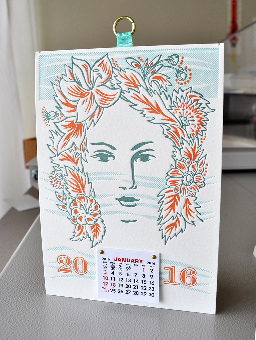 Hippie Flower Girl Calendar 2016