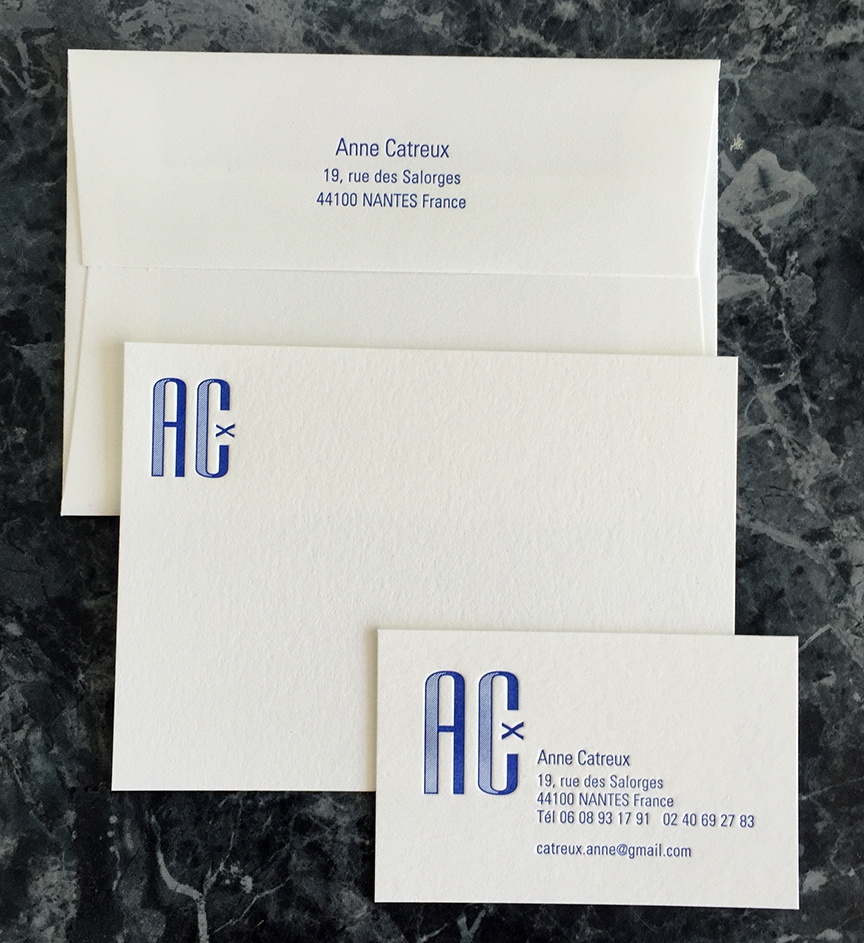 Distinguished marine blue business cards