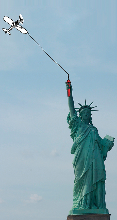 Lady Liberty At Play - Because sometimes even the old lady needs a day to play.