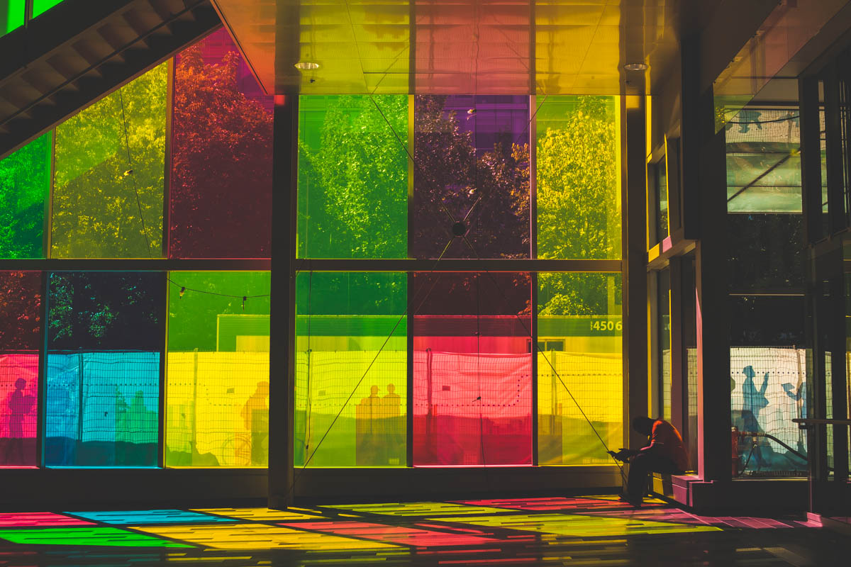 The Color windows at the other end of the Mall
