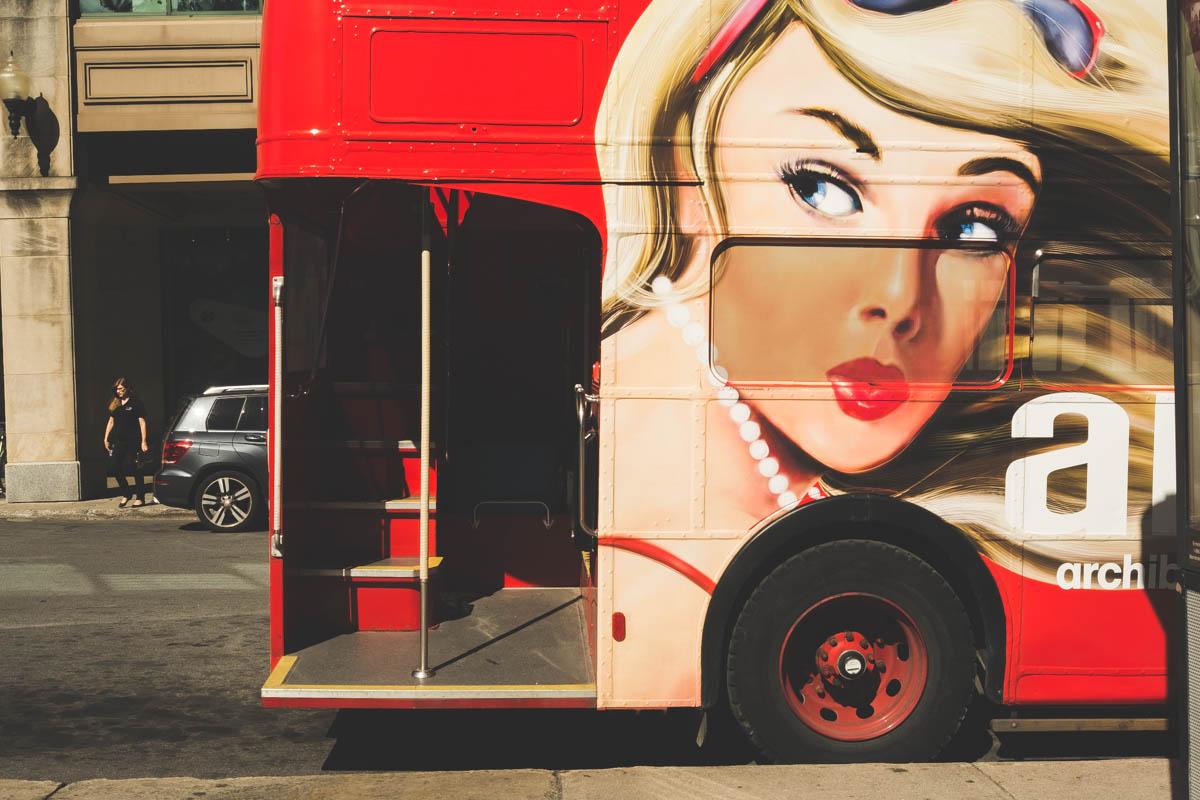 A Montreal tour bus.