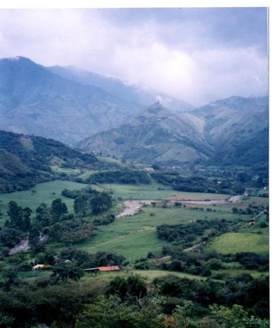 The Andes of Ecuador.