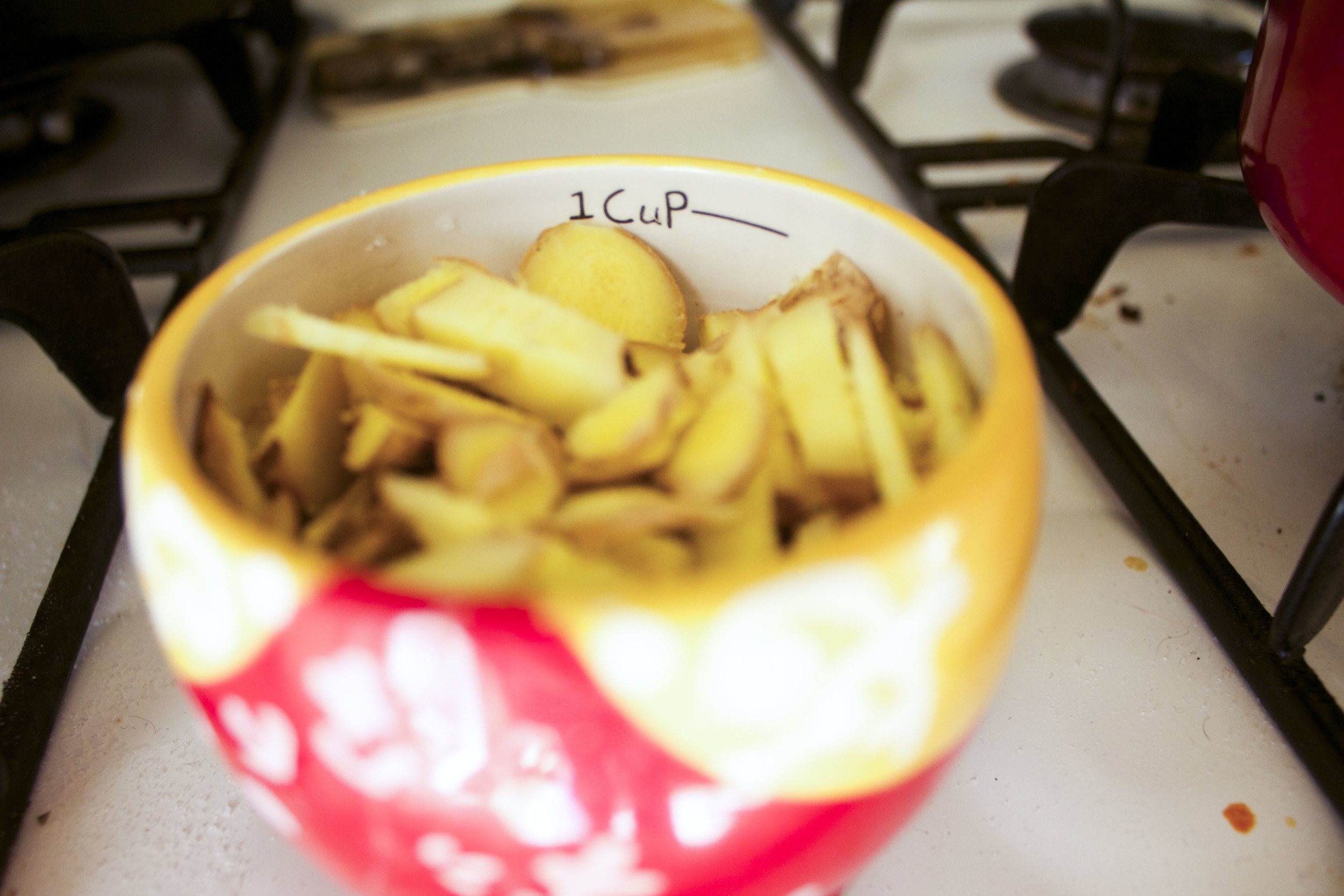 measure out the ginger to at least one cup
