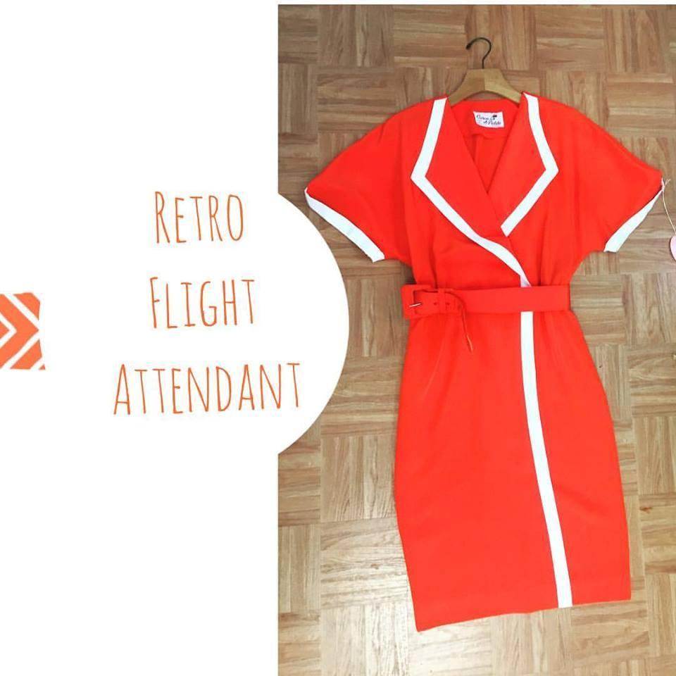 retro flight attendant
