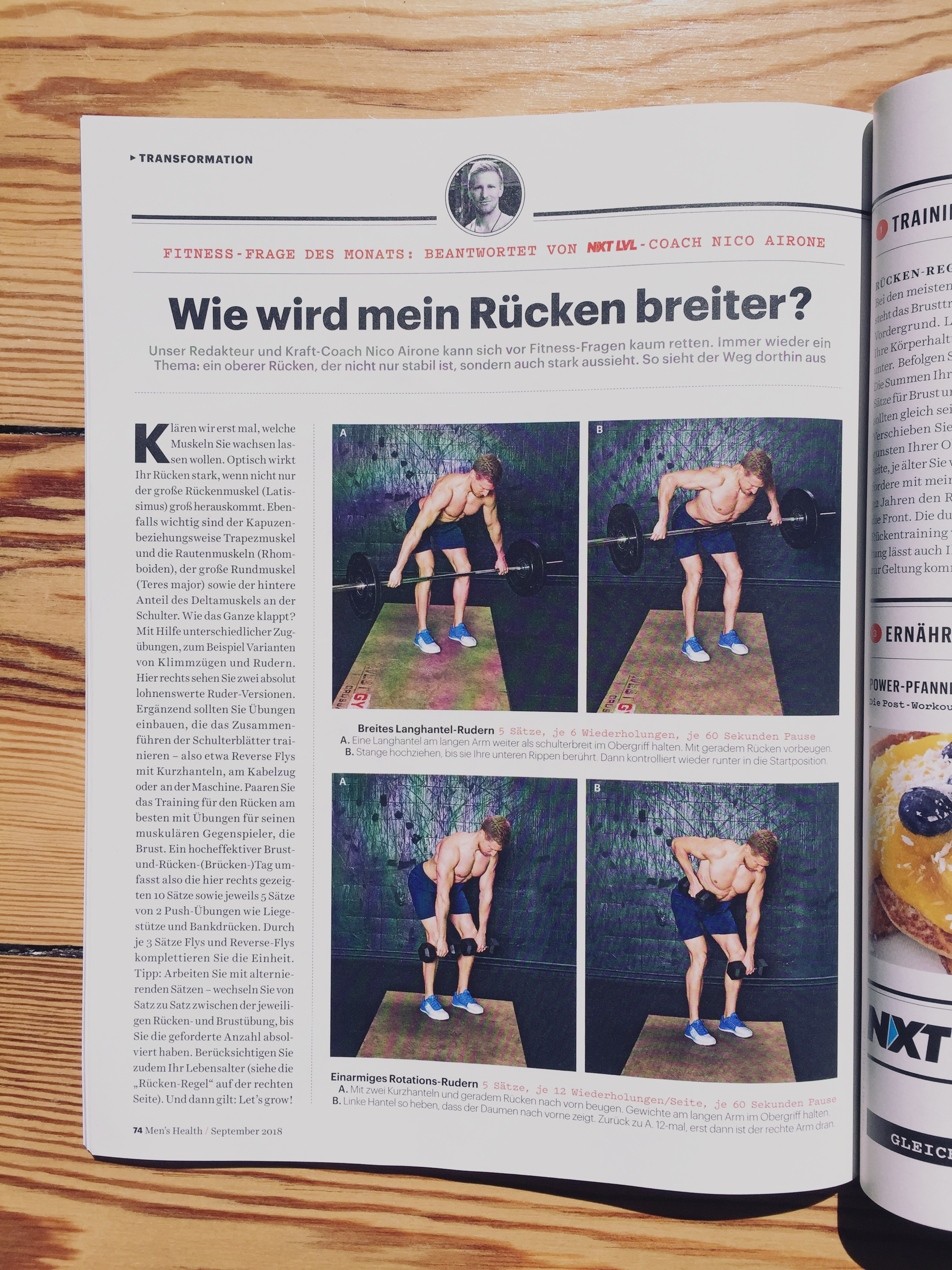 Men's Health Magazin / September 2018