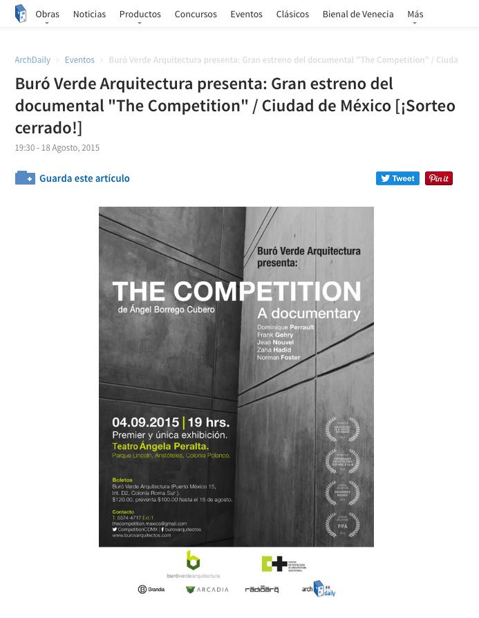"""Estreno Nacional """"The Competition, a documentary"""""""