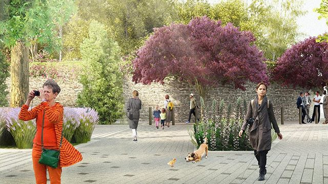 Proyecto de imagen urbana para entorno de Mitikah.  #landscapedesign #imagenurbana