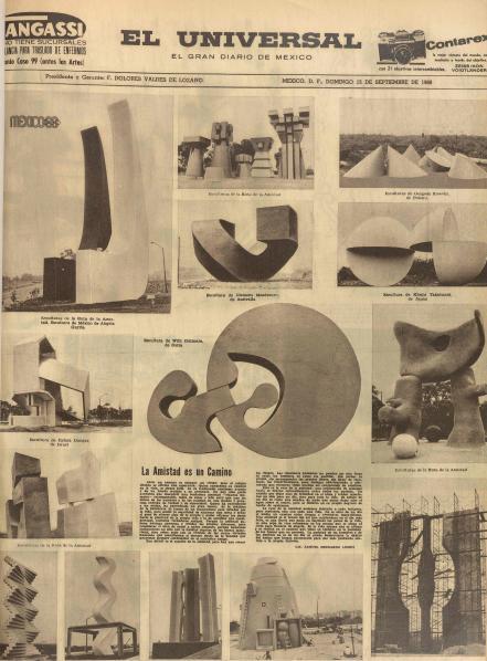 Plana completa de El Universal. Septiembre de 1968.
