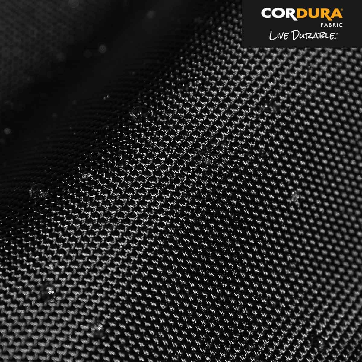 Ultra-durable, water-resistant 1680D Cordura® ballistic nylon exterior (originally developed for military body armor).