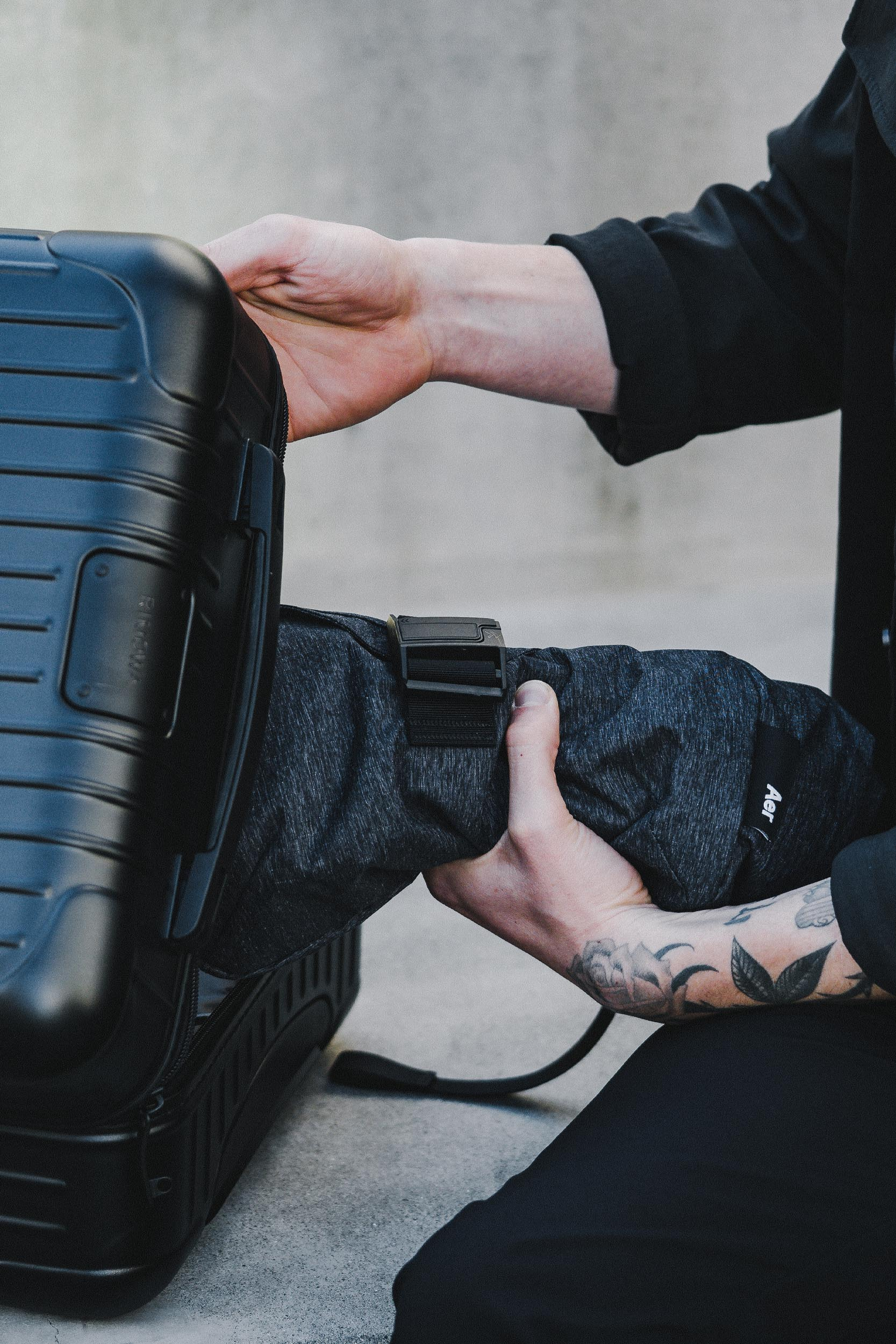 Each bag can be rolled up or packed flat inside larger luggage.