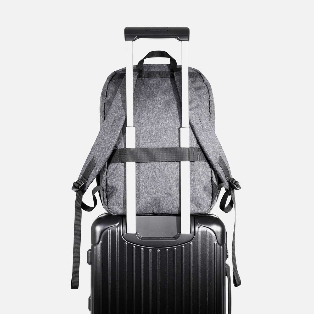 Luggage pass-through for convenient carry.