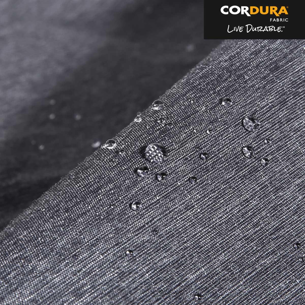 Lightweight, water-resistant 300D Cordura® ripstop exterior.