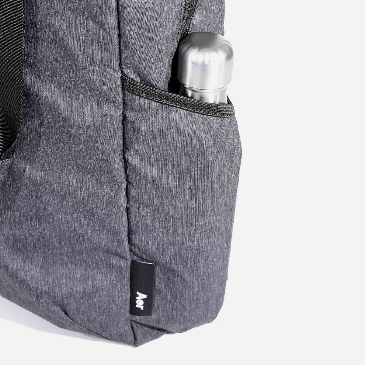 Side pockets for water bottle or small items.