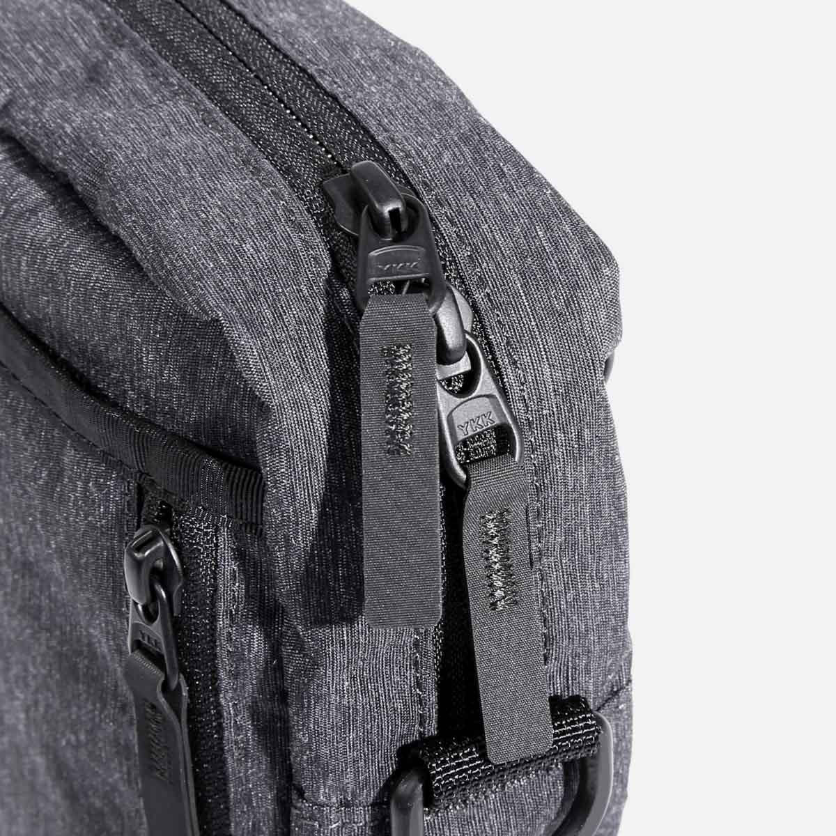 Easy-grip Hypalon zipper pulls.