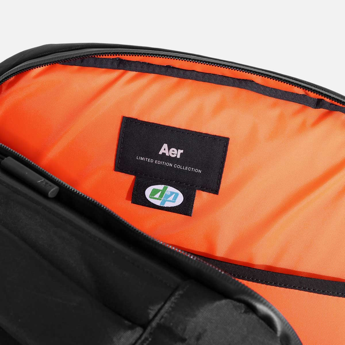 High-visibility orange interior helps you quickly find your gear.
