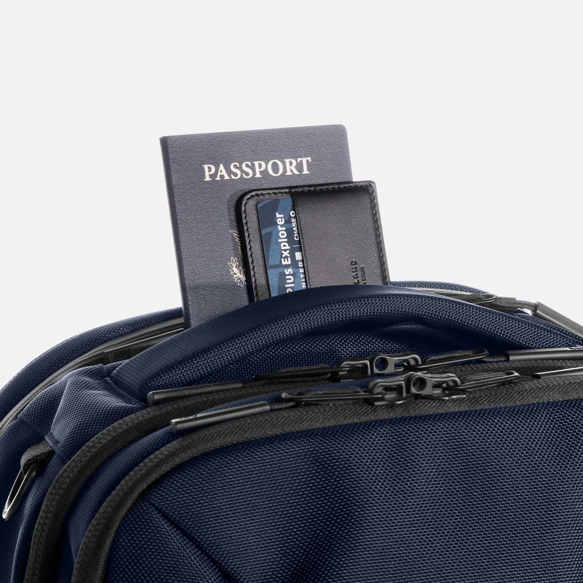 Quick access pocket for your travel documents.