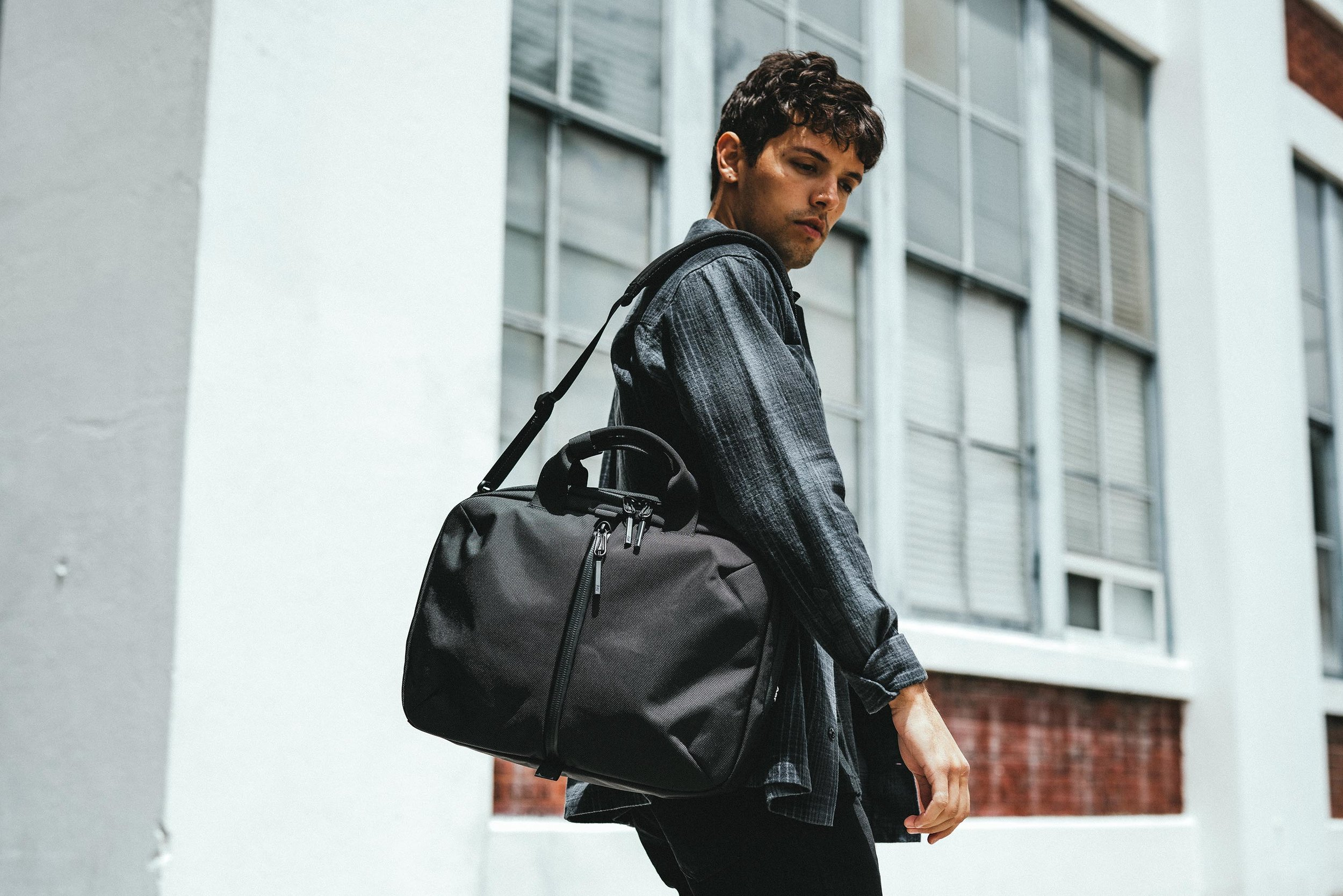 The 2-Way Brief is a modern take on the classic briefcase.