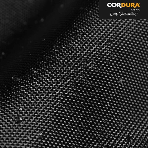 Ultra-durable, water-resistant 1680D Cordura® ballistic nylon exterior (originally developed for military body armor).