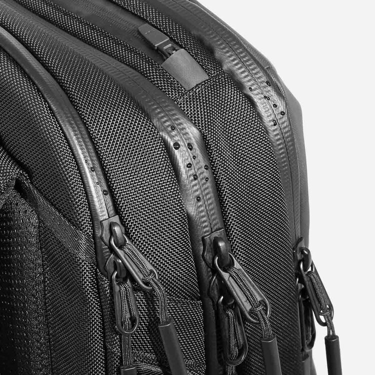 Weather-resistant YKK® AquaGuard® zippers for all major compartments.