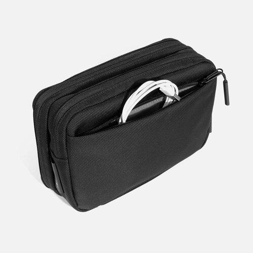 Back pocket for additional storage.