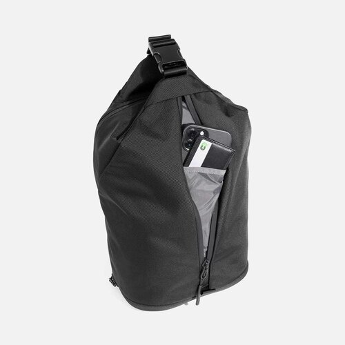 Quick-access front pocket for small items.