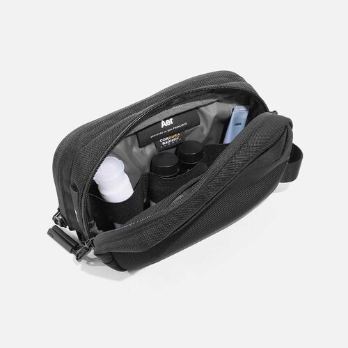 Dual compartments for spacious storage.