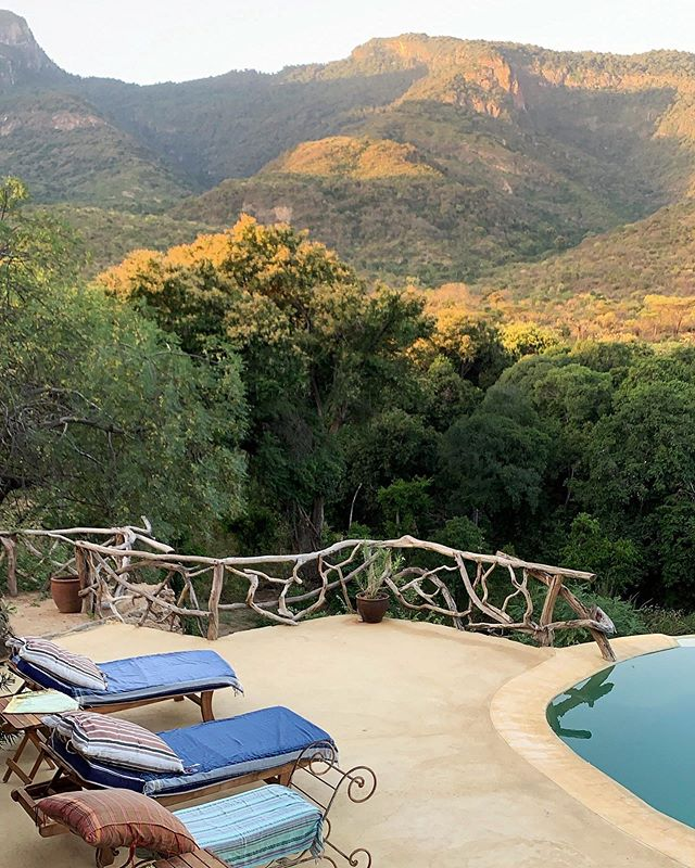 The magical view from the swimming pool at the new Sarara Treehouses. This is one of the best landscape views of the surrounding mountains, northern Kenya. @sararacamp #sararatreehouses #samburu #kenya #safari #nature #disconnecttoreconnect