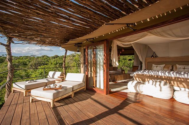 Mwiba Lodge is a camp in the southernmost area of the Serengeti and home to the Hadze (or Hadzabe) people, the last hunter gatherers in East Africa. Mwiba is my go-to spot to end a safari in style, as it combines huge tented rooms in a private concession, interactions with the Hadze, slow and relaxed game drives and an overall feeling that helps your shoulders go a few inches lower. You can visit when the wildebeest migration is in the southern Serengeti or go when it is dry on the plains and the grasses near camp suck in the wildlife. There isn't a bad time to go, even if you spend 1-2 nights at the end of a long safari to decompress.  Don't miss: walks with the Hadze, sundowners, hikes to see Lake Eyasi, showering outdoors.  @legendaryexpeditions #mwibalodge #mwiba #serengeti #ngorongoro #luxurysafari #tanzania #safafi #nature #andybiggssafaris