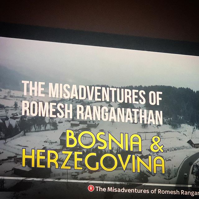 A must watch on @bbctwo with @romeshranga @asmir1 #bosniaandherzegovina #sarajevo 🇧🇦
