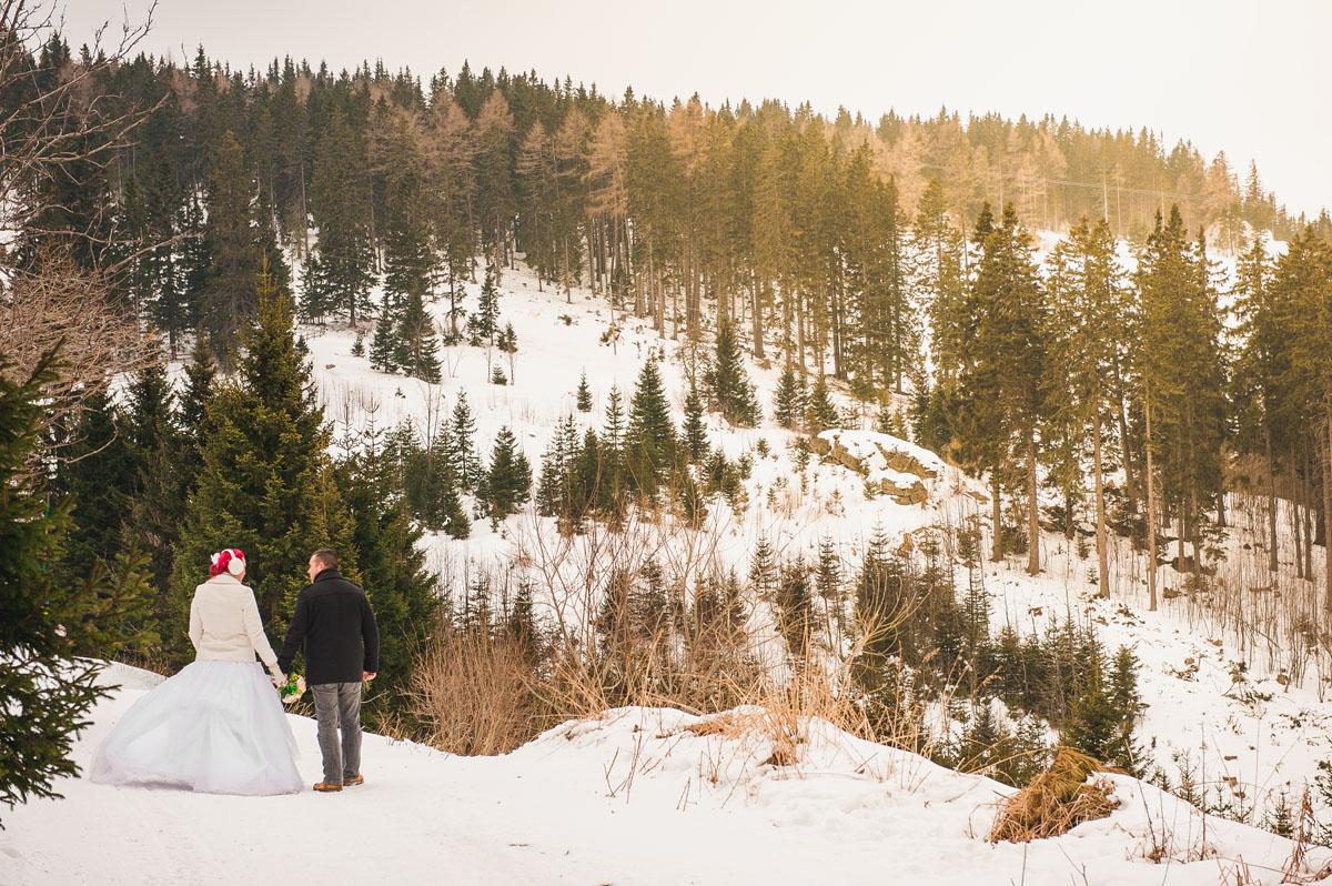 Téli esküvő, ausztria, téli kreatív fotók