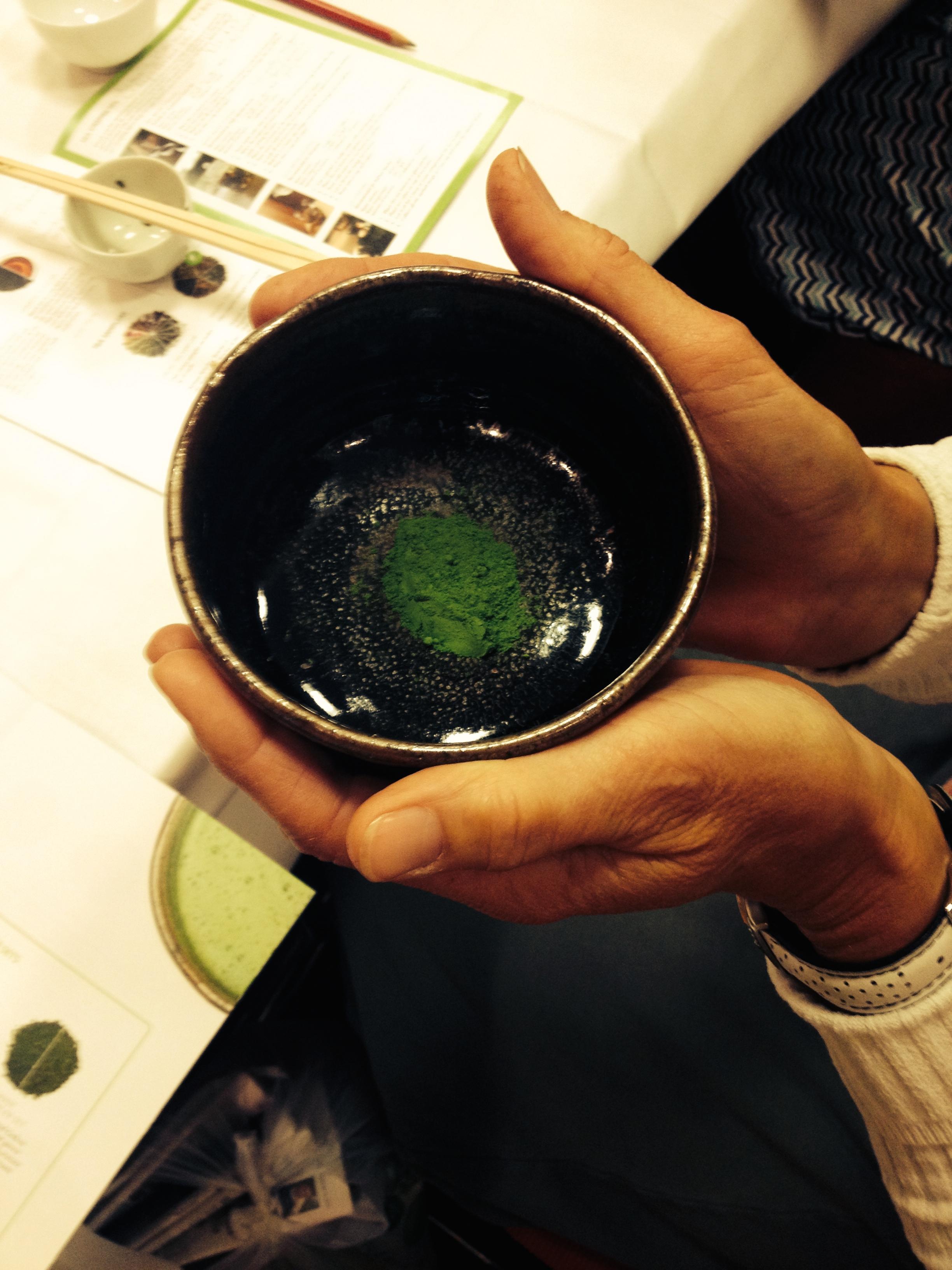 Green Tea powder ready for whisking