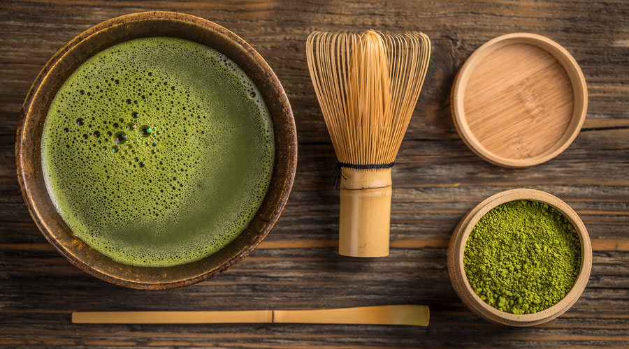 Tea utensils for preparing and serving Matcha