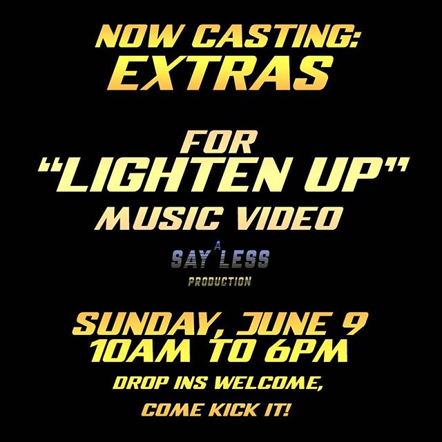 Shooting a music video this Sunday and I need your help... You wanna be in my music video 😉? You don't have to be there all day? DM me for details @textmerecords @solidgoldfro_ @jon_bay @aplombdecygne @studio_dad . . #newmusic #lightenup #williamrobertempire #musicvideo #sanfrancisco #sf #bayareamusic