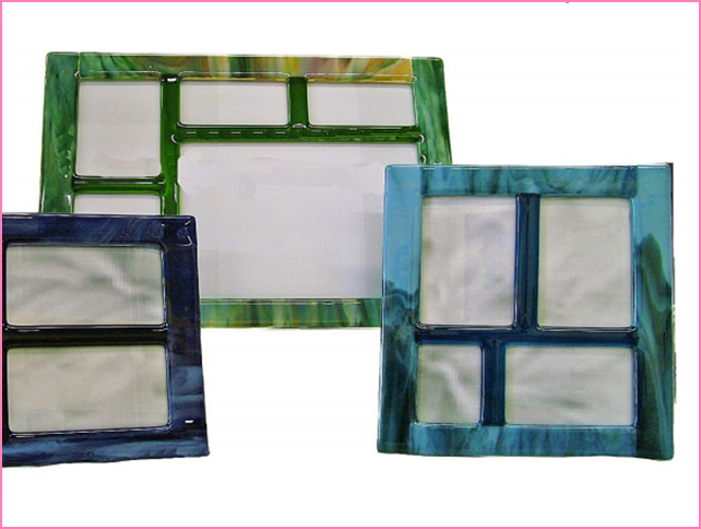 Glass House Frames -  Hand  Crafted by Susan Molnar in Lowell, MI, Glass House Frames blends color and texture to create unique works of art for your home.