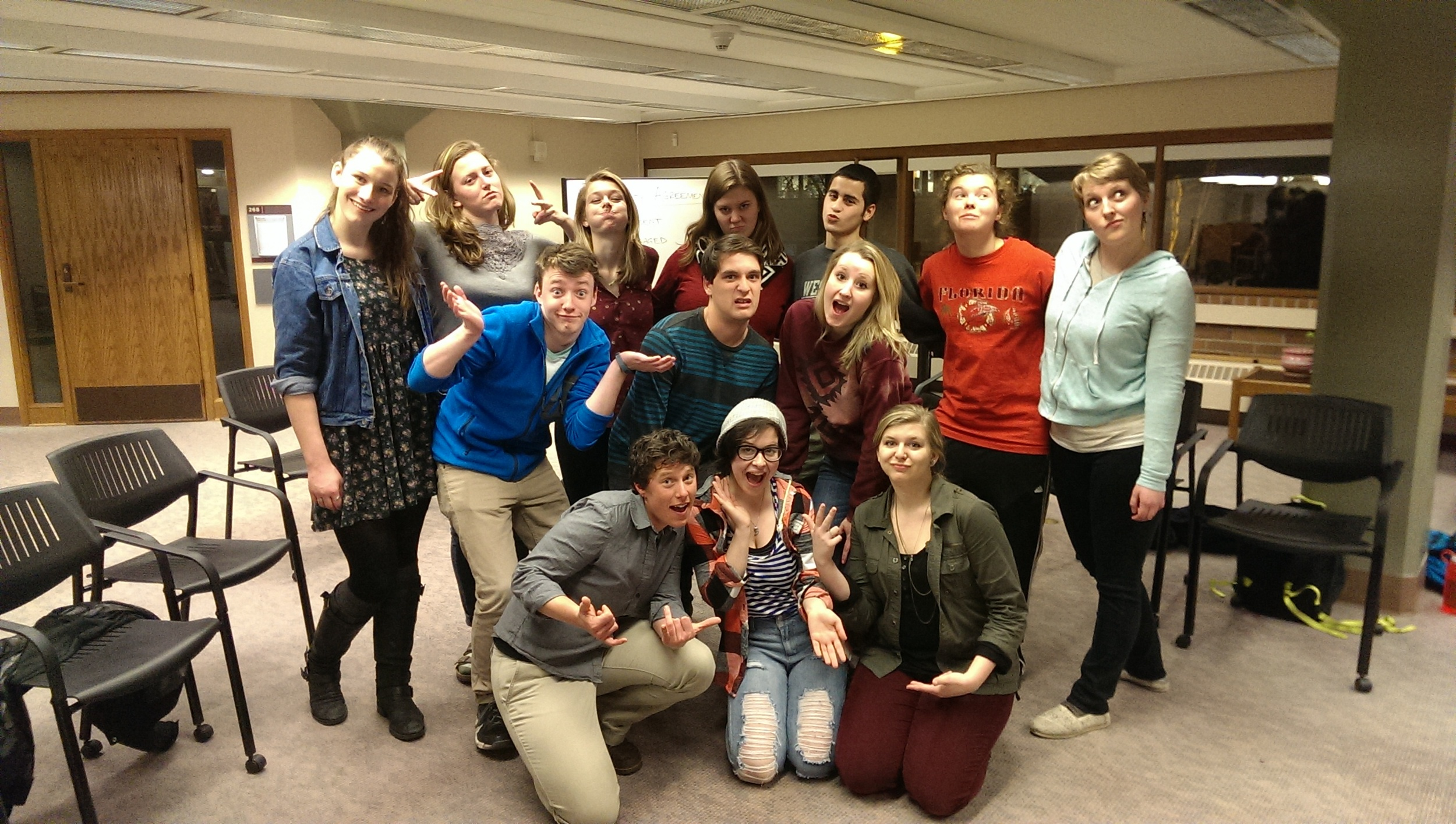 WWU Service-Learning Leaders having a blast after an amazing team-building workshop